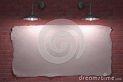 Cartel de dos lámparas