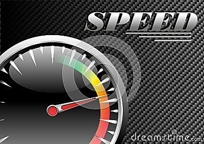 Cartel de la velocidad del vector