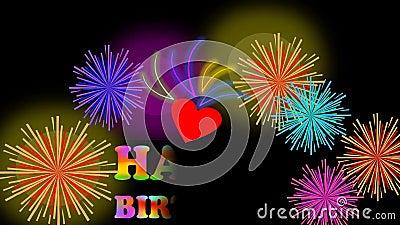 Cartelera animada del feliz cumplea os con el fuego - Feliz cumpleanos infantil animado ...