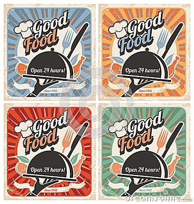 Carteles retros de la comida foto de archivo imagen 29033580 - Carteles retro ...