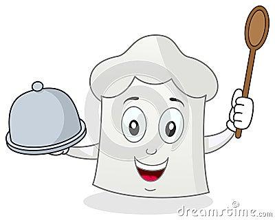 Caráter engraçado do chapéu do cozinheiro chefe