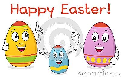 Caráteres da família do ovo da páscoa