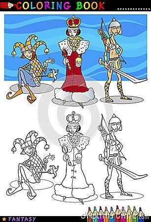 Caráteres da fantasia para a coloração