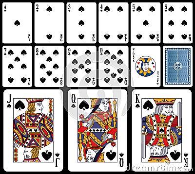 Cartões de jogo clássicos - pás