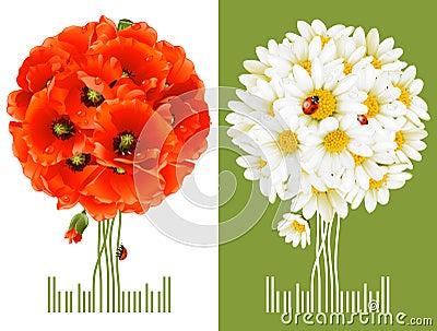 Cartes de voeux florales