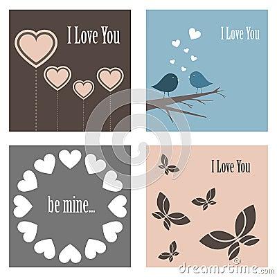 Cartes mignonnes de Valentine