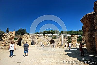 Carthage em Tunísia Imagem Editorial