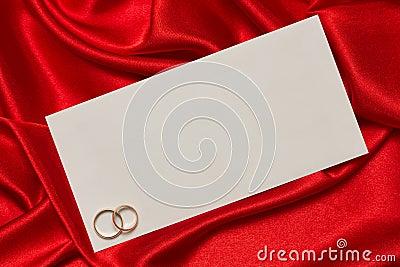 Cartão branco para felicitações