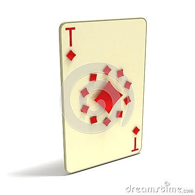Cartão de jogo: Ace de clubes como 11 pontos. jogo 3D