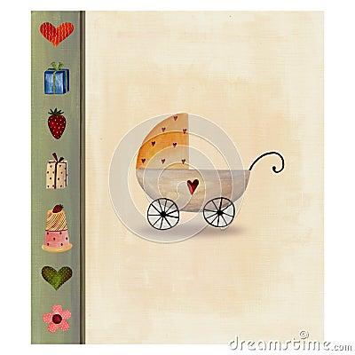 Cartão do anúncio da chegada do bebê