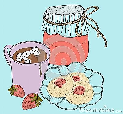 Cartão doce do pequeno almoço