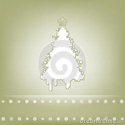 Cartão elegante com árvore de Natal. EPS 8
