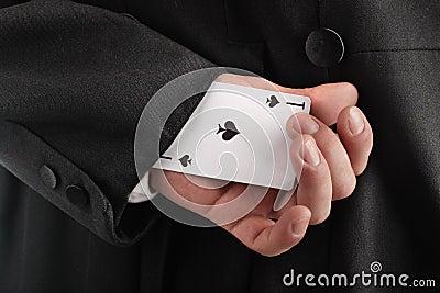 Cartão escondendo