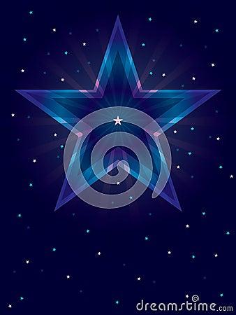 Cartão profundo da estrela da cor