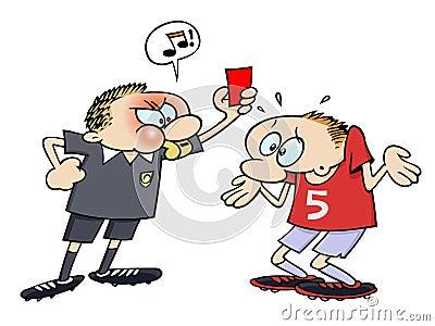 Cartão vermelho do futebol