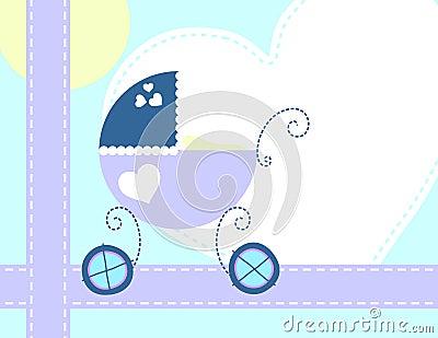 Cartolina d auguri appena nata