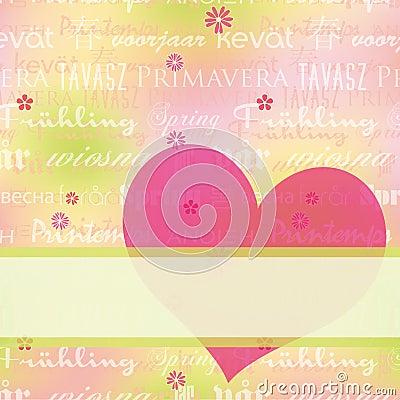 Cartolina d'auguri astratta di primavera fotografia stock libera da