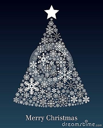 Cartolina d auguri dell albero di Natale