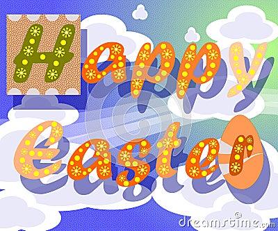 Cartolina d auguri di Pasqua