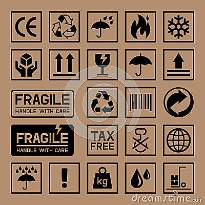 Free Carton Cardboard Box Icons. Stock Photos - 65224793
