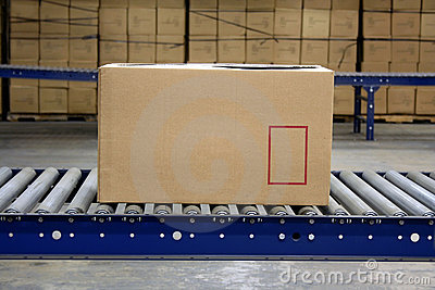 Carton On Conveyor Royalty Free Stock Photo - Image: 2888535