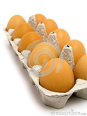 Free Carton Of Eggs Royalty Free Stock Photo - 233135
