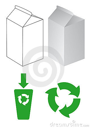 Cartons for milk and eco-symbols