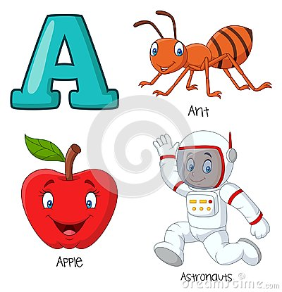 Free Cartoon A Alphabet Stock Images - 123696774