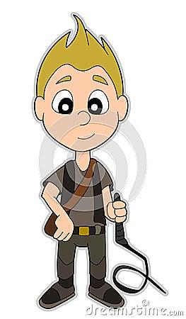Cartoon adventurer