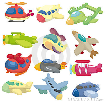 Free Cartoon Airplane Icon Royalty Free Stock Images - 19041039