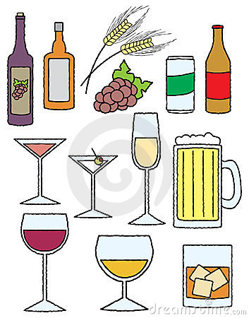 Cartoon Alcohol Related Items