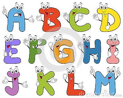 M Alphabet Animation Funny cartoon alphabet with letters characters from A to M. Useful ...
