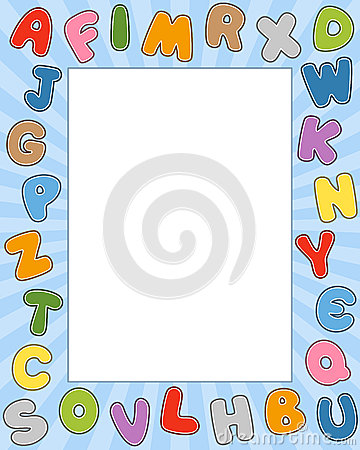 Cartoon Alphabet Photo Frame