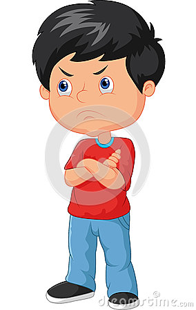 Free Cartoon Angry Boy Royalty Free Stock Photography - 50839697