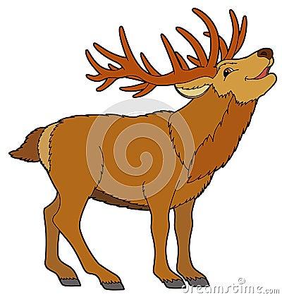 Cartoon animal - deer -  illustration for the children