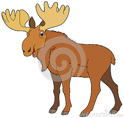 Cartoon animal - moose - illustration for the children