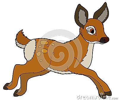 Cartoon animal - roe - illustration for the children