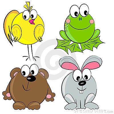 Cartoon animal set.  mammal