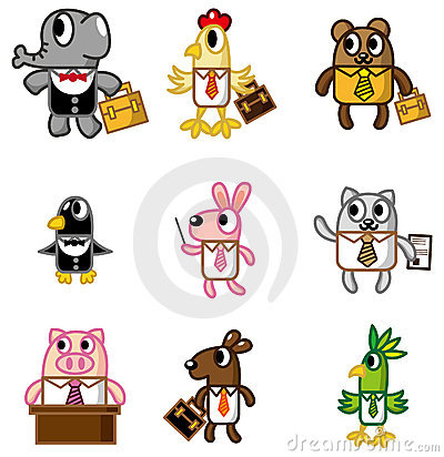 Free Cartoon Animal Worker Icon Royalty Free Stock Image - 18263986
