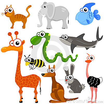 Stock Images: Cartoon animals 1. Image: 6543374