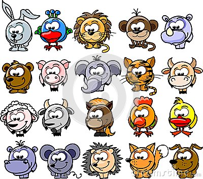 Cartoon animals,vector
