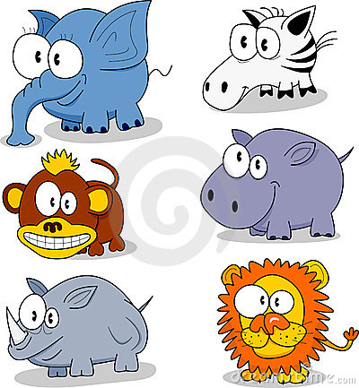 Free Cartoon Animals Royalty Free Stock Image - 8008756