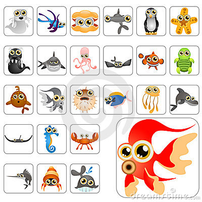 Free Cartoon Animals Big Set Stock Image - 14921191