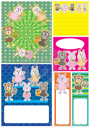 Cartoon Animals Card Set_eps