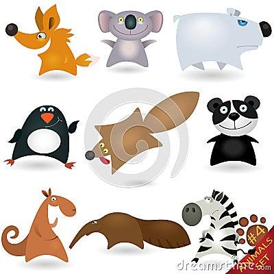 Cartoon animals set #4