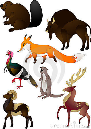 Free Cartoon Animals Vector Royalty Free Stock Images - 12279169