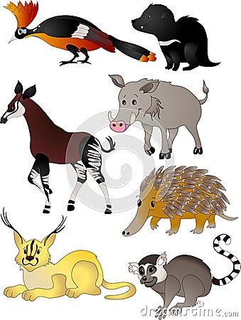 Free Cartoon Animals Vector Stock Photos - 12279203