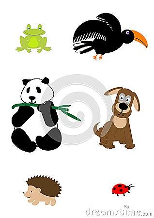 Cartoon animals - vector