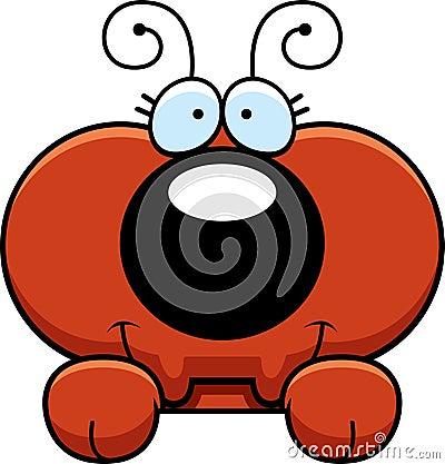 Free Cartoon Ant Peeking Stock Photography - 47089282