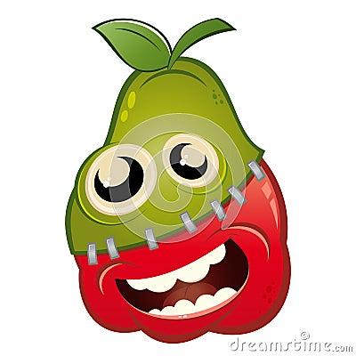 Free Cartoon Apple And Pear Fruit Stock Image - 20353121